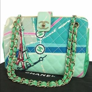 """🆕 Chanel CC """" Cruise Line""""quilted Shoulder Bag 👜"""